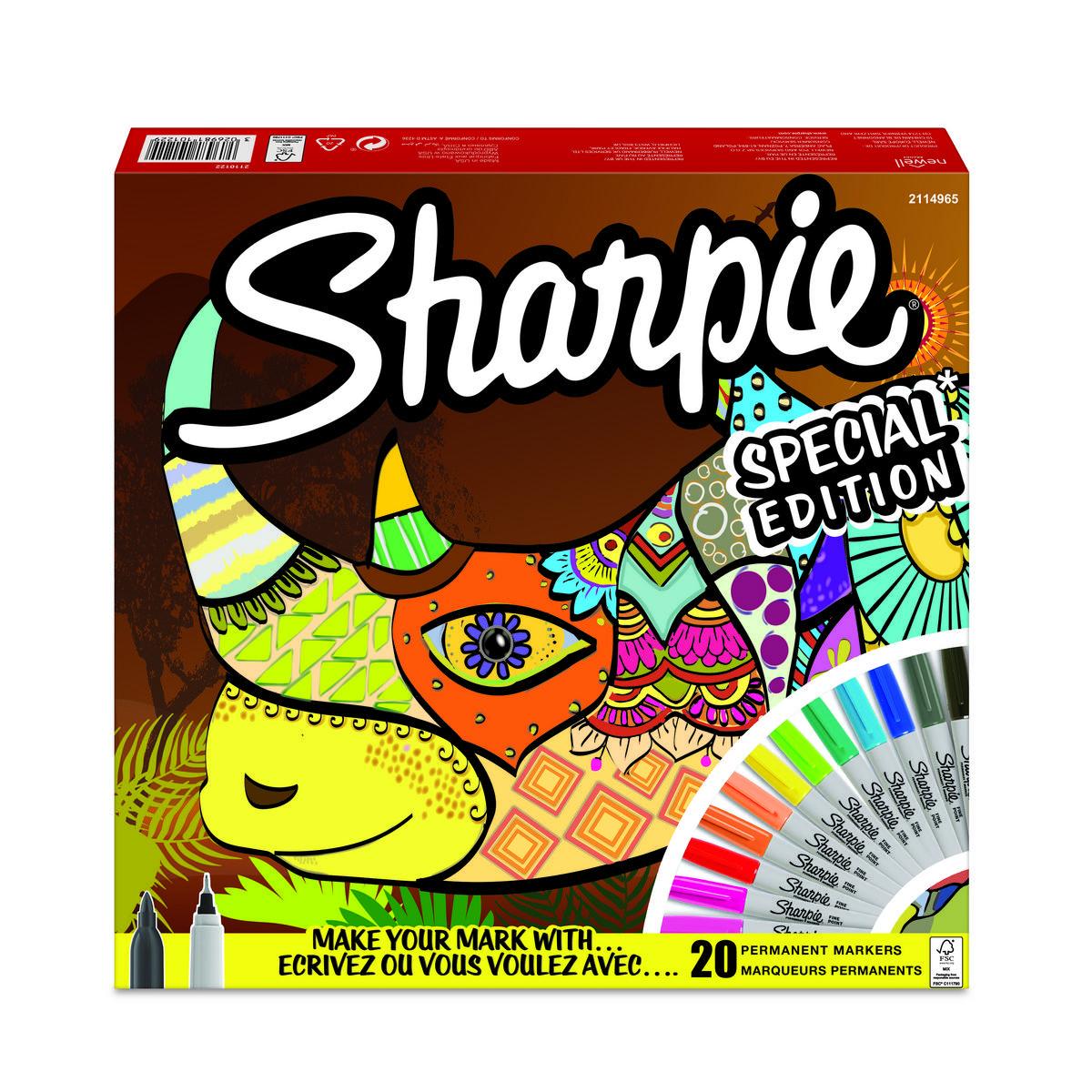 Sharpie Fine Point markeerstiften 20 stuks - neushoorn