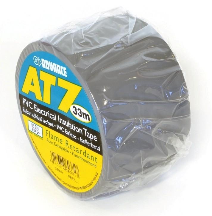 Advance -  AT7  - Isolatietape - 38mm x 33m. grijs