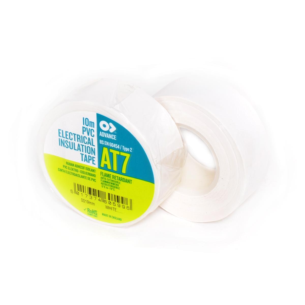 Advance -  AT7  - Isolatietape - 19mm x 10m wit