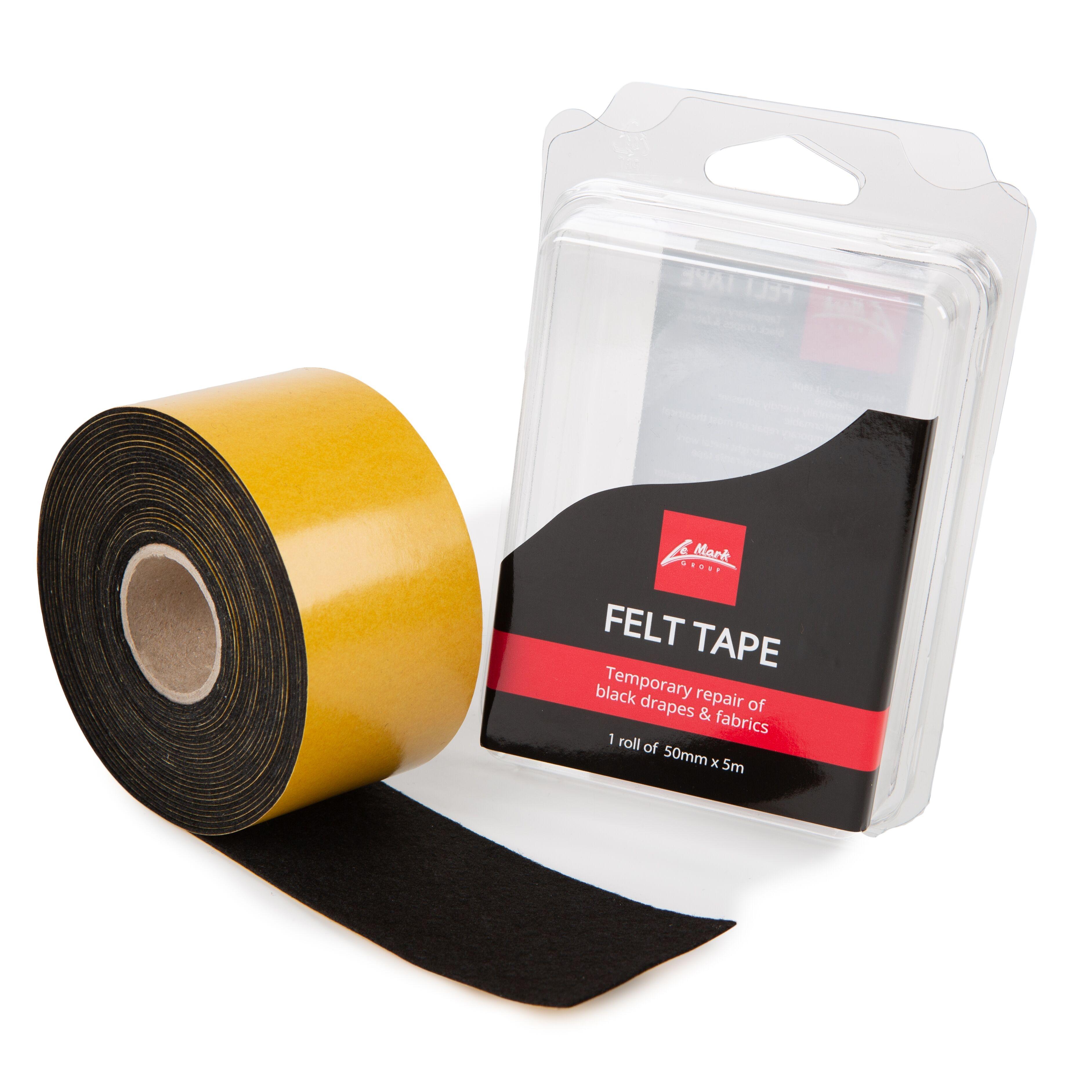 Backdrop tape 50mm x 5m zwart