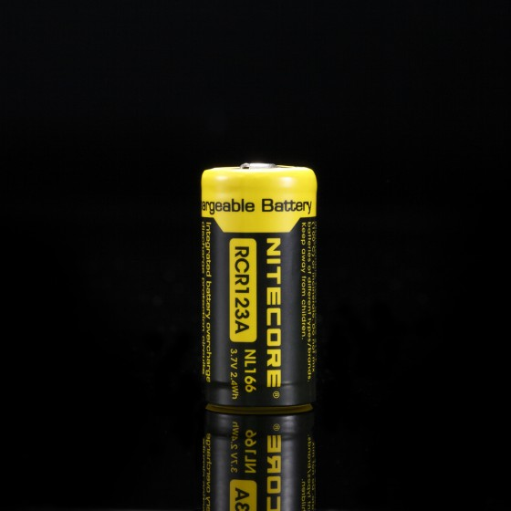 Nitecore RCR123A Li-ion battery NL166 650mah
