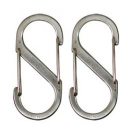 Nite Ize S-Biner #1 x2 roestvrij staal zilver