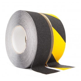Antislip tape 50mm. x 18,3m Geel / Zwart