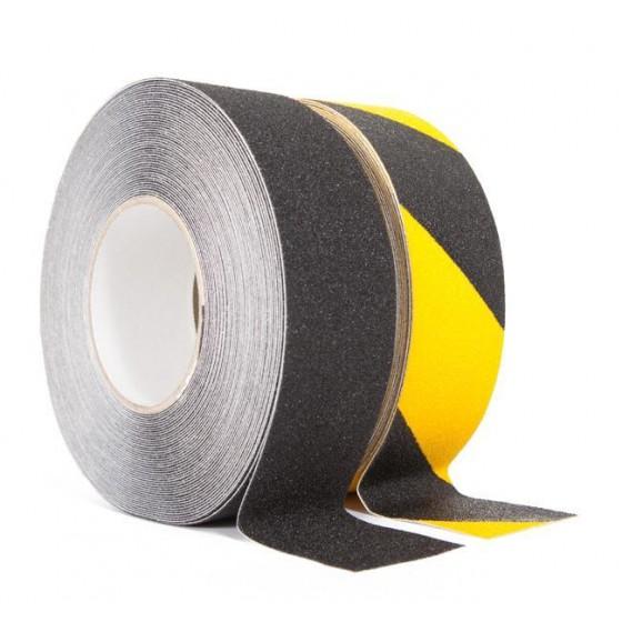 Antislip tape 50mm. x 18,3m Geel / Zwart