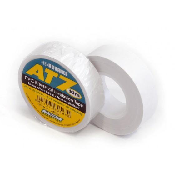 Advance AT7 PVC tape 15mm x 10m wit - doos 100 rollen