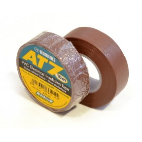 Advance AT7 PVC tape 15mm x 10m bruin - doos 100 rollen