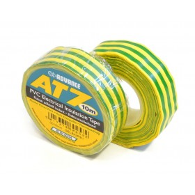 Advance AT7 PVC tape 15mm x 10m geel/groen - doos 100 rollen