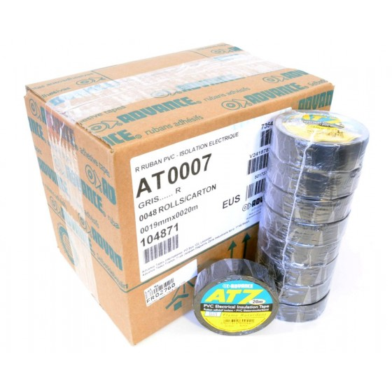 Advance AT-7 PVC tape 19mm. x 20m. Zwart