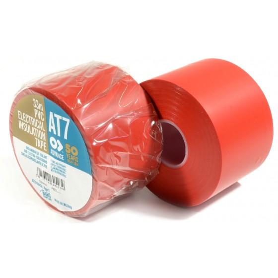 Advance AT7 PVC tape 50mm x 33m Rood