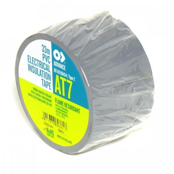 Advance AT7 PVC tape 50mm x 33m grijs - doos 18 rollen