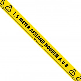 1,5 meter afstand houden aub - Vloer Markeringstape - 50mm x 33m - Hoge Kwaliteit - 36 rollen