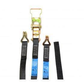 Gaffergear spanband 2-delig - 25mm x 0,5 + 4,5m zwart