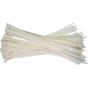 kabelbinders 4,8 x 200 mm.wit - zak 100 stuks - 15 zakken