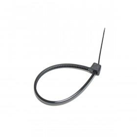 Kabelbinders 2,5 x 100 mm. zwart - zak 100 stuks