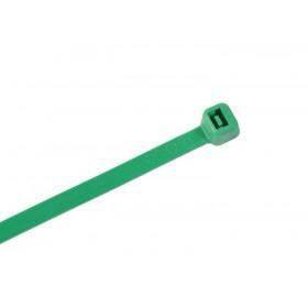 Kabelbinders 2,5 x 100 mm. groen - zak 100 stuks