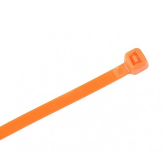 Kabelbinders 2,5 x 100 mm oranje - zak 100 stuks