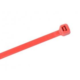 Kabelbinders 2,5 x 100 mm. rood - zak 100 stuks