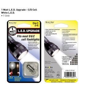 Nite Ize 1 Watt LED upgrade t.b.v. C / D Cell zaklampen