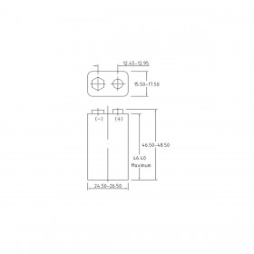 Philips Industrial 9V / 6LR61, doosje 10 stuks