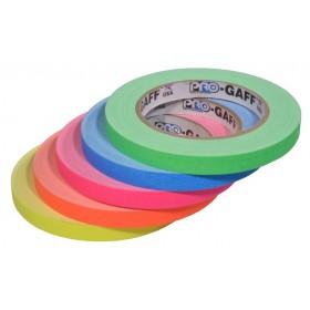Pro-Gaff neon gaffa tape 12mm x 22,8m kleuren pakket