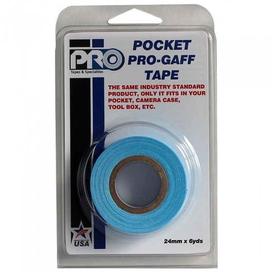 Pro Pocket Gaffa tape 24mm x 9,2m neon blauw