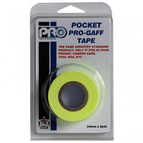Pro Pocket Gaffa tape 24mm x 9,2m neon geel