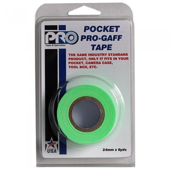 Pro Pocket Gaffa tape 24mm x 9,2m neon groen