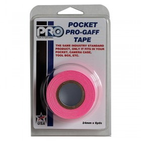 Pro Pocket Gaffa tape 24mm x 9,2m neon roze