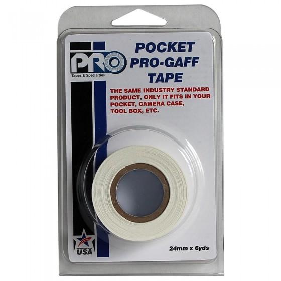Pro Pocket Gaffa tape 24mm x 9,2m wit