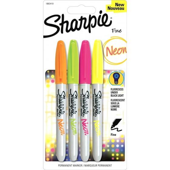 Sharpie Fine Point permanent marker 1mm Neon Kleuren pakket