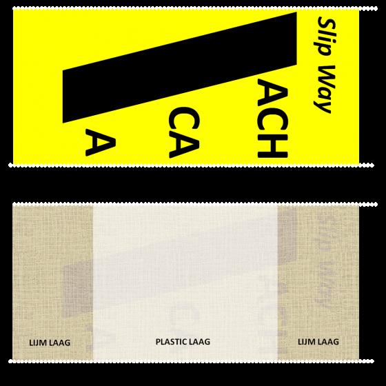 SlipWay Cable Cover tape tape 145mm x 30m Geel/Zwart