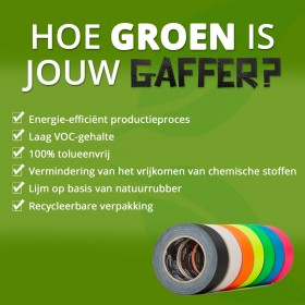 MagTape Ultra Matt Neon gaffa tape 50mm x 25m geel