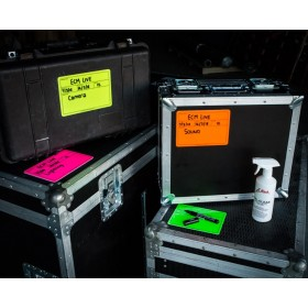 Visi-PAL flightcase label 178mm x 127mm neon oranje