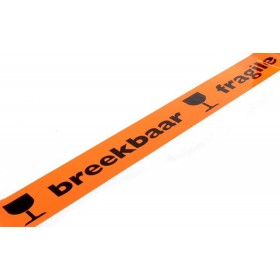 PP waarschuwingstape 50mm x 66m Breekbaar / Fragile