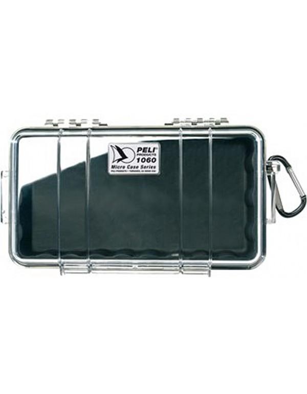 Peli 1060 Micro Case Transparant / Zwart