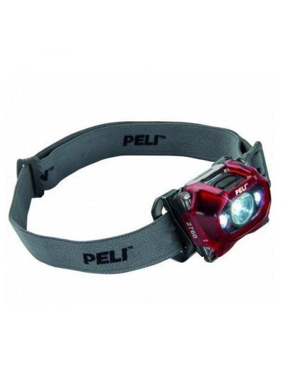 Peli 2760 LED Hoofdlamp Rood