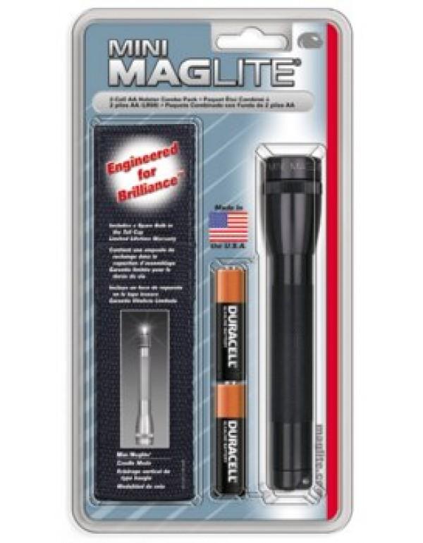 Maglite mini AA + holster pack zwart