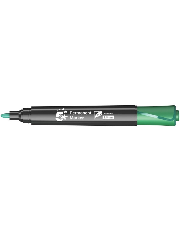 5Star permanent marker, ronde punt groen