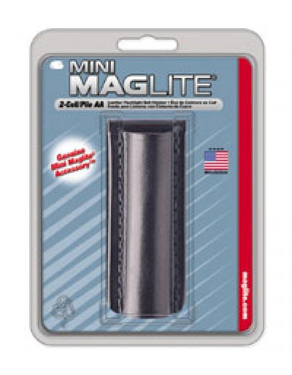 Maglite Mini AA lederen holster zwart