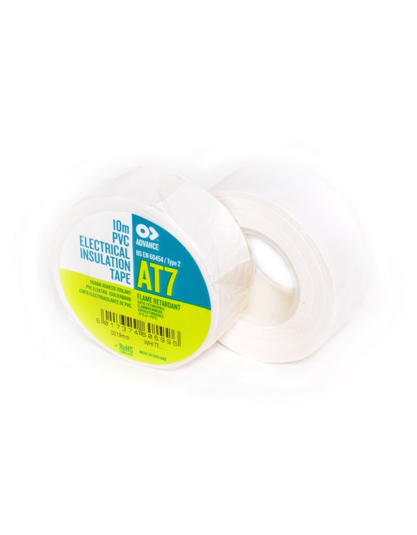 Advance AT-7 PVC tape 19mm x 10m wit
