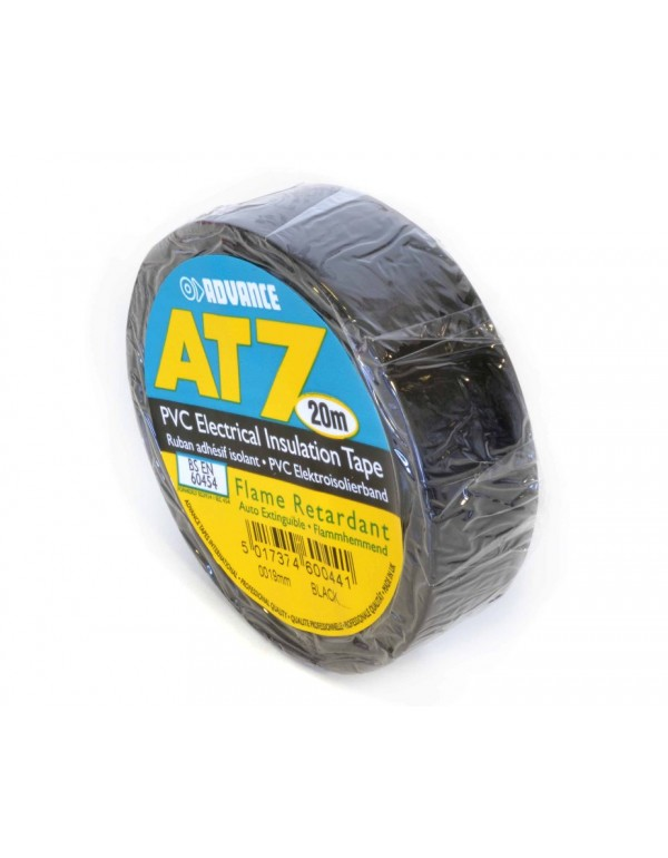 Advance AT-7 PVC tape 19mm. x 20m. Zwart