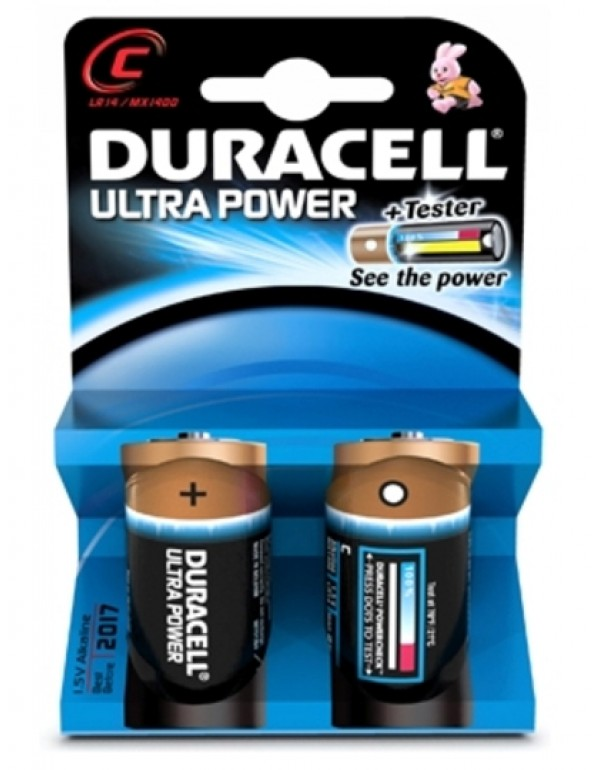 Duracell Ultra Power C-Cell 2 pack MN1400 batterijen
