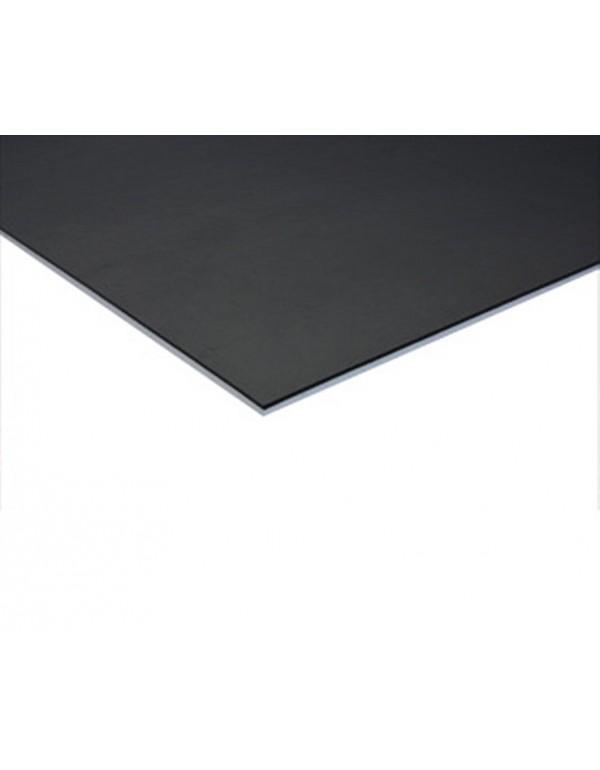 Coda dubbelzijdige dansvloer 200cm x 15m zwart / grijs