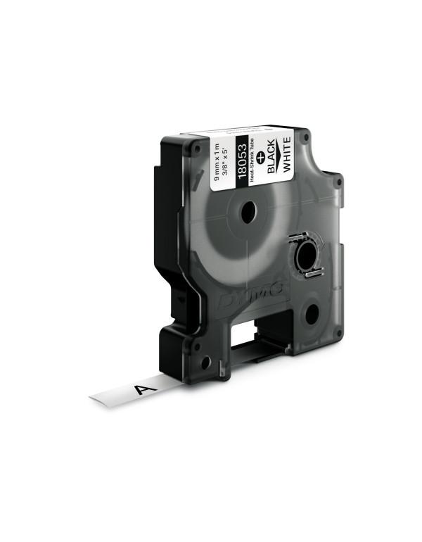 Dymo RHINO 18053 - IND Krimpkous label - 9mm zwart op wit - apparaat