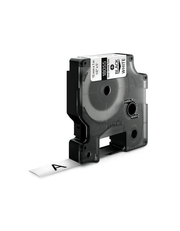 Dymo RHINO 18055 - IND Krimpkous label - 12mm zwart op wit - aparaat