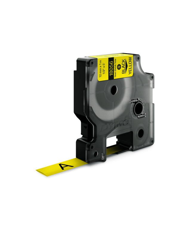 Dymo RHINO 18056 - IND Krimpkous label - 12mm zwart op geel - aparaat