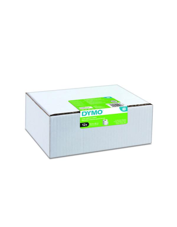 Dymo 2093093 - 89 x 36mm - wit papieren labels - 12 rollen - verpaking