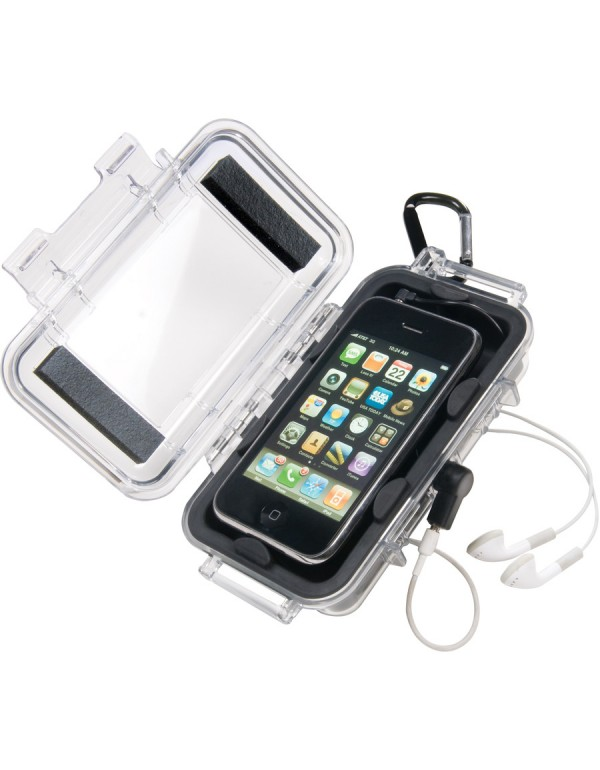 Peli Case i1015 iPhone Transparant / Zwart