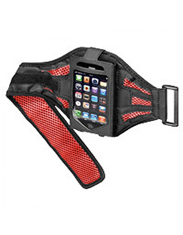 Sportbag voor iPhone zwart / rood