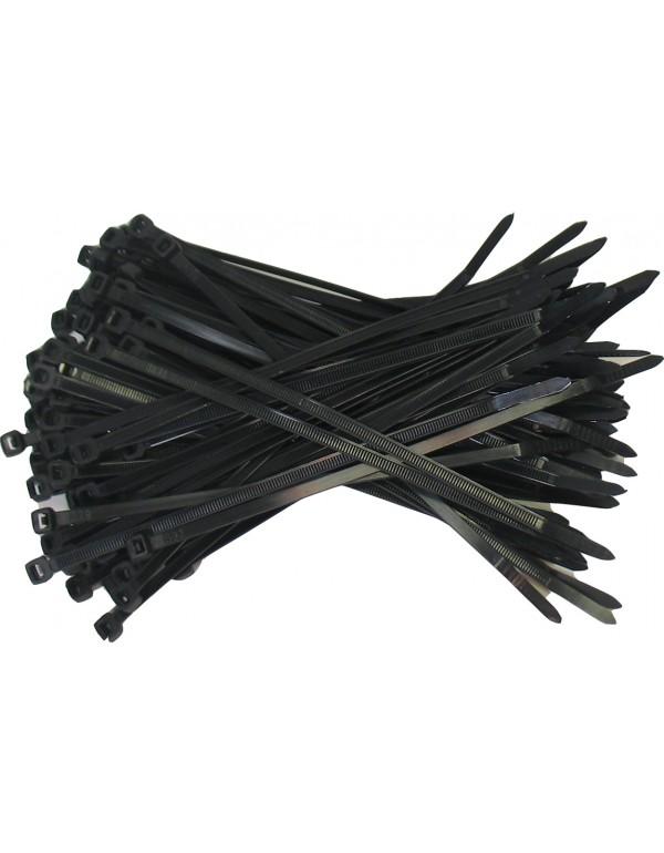 Kabelbinders 4,8 x 200 mm. zwart - zak 100 stuks